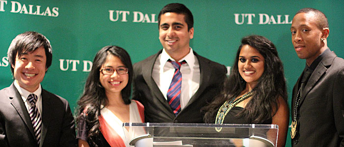picture of student leadership award winners